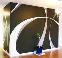painting designs on a wall | Wall Paint Design by saadcreative on deviantART