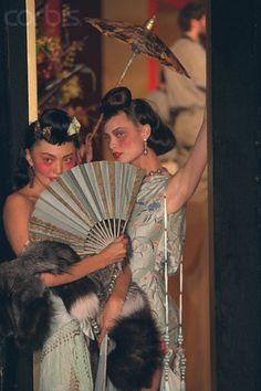 Galliano for Dior F/W 1997 - Model and Shalom Harlow,pret a porter GEISHA