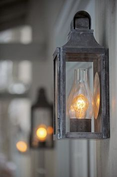 New England Barn Exterior Wall Lantern. (From Scofield website portfolio) Exterior Barn Lights, Exterior Lighting, Porch Lighting, Outdoor Lighting, Cabin Lighting, Front House Lights, Primitive Lighting, Colonial Exterior, Modern Lighting
