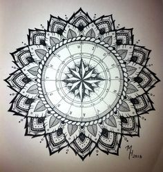 Mandala Designs, morgangatekeeper: Compass mandala I designed for...