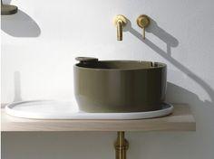 Countertop round ceramic washbasin with overflow UKIYO-E | Countertop washbasin - Olympia Ceramica