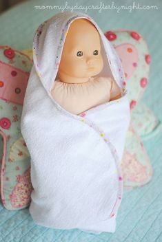 #DIY Baby Doll Towel/Blanket #Tutorial - great project to share with your little ones!