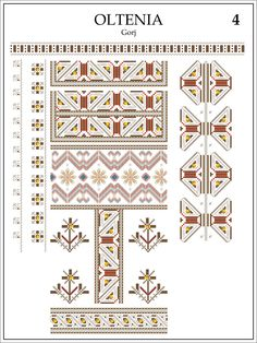 Oltenia, Gorj Embroidery Patterns, Cross Stitch Patterns, Folk Art, Diy And Crafts, Decorative Boxes, Symbols, Traditional, Quilts, Blanket