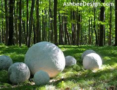Ashbee Design: Lessons in Ball Construction- Concrete Balls for Garden