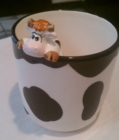 The Swiss Cow Collection by Cofer Geneva Farmhouse Paper Towel Holders, Cows Mooing, Cow Kitchen Decor, Clay Mugs, Attic Apartment, Cow Art, Cute Cows, Big Sis, Crystal Collection