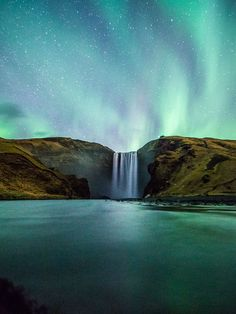 Picture of Skogafoss waterfall in Iceland
