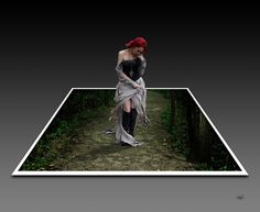 Johnzouan's stories ...: 3D photo.... lady in forest...
