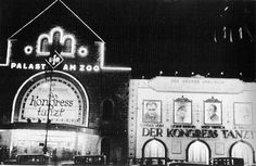 The Ufa-Palast am Zoo on Auguste-Viktoria-Platz, now Breitscheidplatz, in Charlottenburg, was a major Berlin cinema owned by Universum Film AG (UFA) Opened in 1919 and enlarged in 1925, it was the largest cinema in Germany until 1929 and was one of the main locations of film premières in the country. It was destroyed in 1943 during the Second World War.,