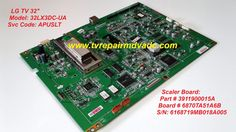 LG 32LX3DC-UA (APUSLT). SCALER BOARD: 3911900015A / TESTED. 100% OPERATIONAL #LG