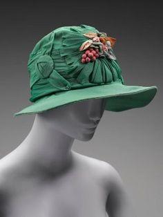 1920s Hat by Wherrie Terrell Co. St. Paul via Museum of Fine Arts, Boston