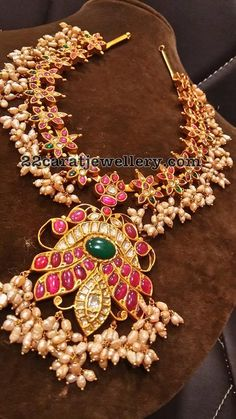 Ruby Guttapusalu Necklace - Jewellery Designs