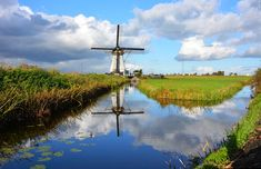 The amazing windmills at Kinderdijk, near Amsterdam and Rotterdam in the Netherlands