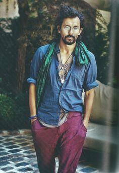 Haider Ackermann, styliste de mode belge, style bohème, homme