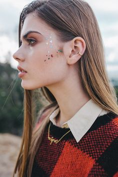 """The popular Mr. Kate BeautyMarks are now available in the mixed colorful metallic Confetti designs. These never-before-seen confetti faux tattoos will always have you celebrating! Use BeautyMarks """"The"""