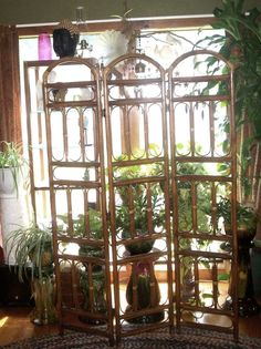 """3-Panel  Folding Bamboo Room Divider, Dressing /  Privicy Screen 70"""" X 48"""" Deco #Unbranded"""