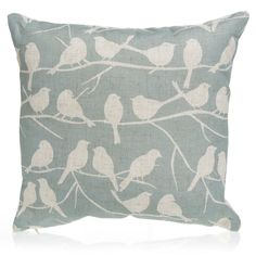 Add a touch of comfort to your home with a stylish cushion from Wilko. Shop our wide selection of cushions and cushion covers in our soft furnishings range. Duck Egg Blue Lounge, Duck Egg Blue Living Room, Duck Egg Blue Cushions, Duck Egg Blue Bedroom, Living Room Grey, Teal And Grey, Soft Furnishings, Throw Pillows, Birds
