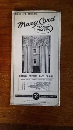 Rare Vintage Mary Card Crotchet Chart No 55 Dragon Curtain Lace Design