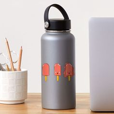 """""""Red Ice Cream"""" Sticker by MadoMade Cute Lipstick, Ice Cream Design, The White Stripes, Plastic Stickers, School Items, Personalized Water Bottles, Decorate Notebook, Transparent Stickers, Red Lipsticks"""