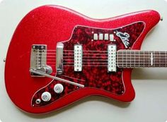 Beautiful, all original Eko 500-2V Red Sparkle from the early sixties in excellent condition