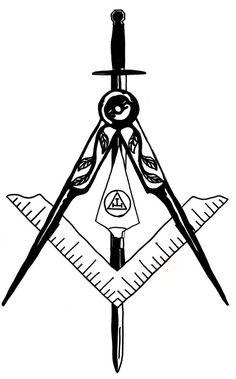 masonic tattoo design by TheBeatDandy on DeviantArt Masonic Order, Masonic Art, Masonic Symbols, Freemason Tattoo, Masonic Tattoos, Crown Tattoo Design, Compass Tattoo Design, New Tattoos, Tribal Tattoos