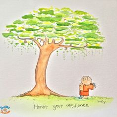 Honoring your Resilience Buddha Doodle by Tiny Buddha, Little Buddha, Buddha Zen, When Your Heart Hurts, Buddah Doodles, Gods And Goddesses, Good Thoughts, Illustrations, Cute Quotes