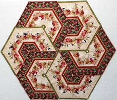 "Table topper kit with ""A Colorful Season"" fabric collection by Nancy Mink http://www.creativequiltkits.com/kits/table-runner-kits.html"