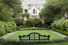 The Grand Lawn at the Rollins Boxwood House in Atlanta
