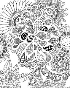 FREE Flowers and Leaves Zen Tangle Coloring Page for Adults --> If you're in the market for the most popular adult coloring books and supplies including gel pens, colored pencils, watercolors and drawing markers, check out our website at http://ColoringToolkit.com. Color... Relax... Chill.