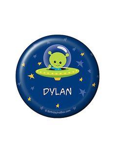Space Alien Personalized Button