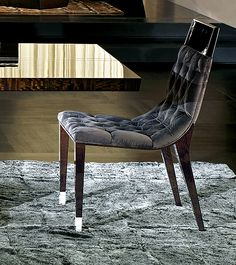 DINING CHAIR BUTTONED UPHOLSTERY DESIGN 5032