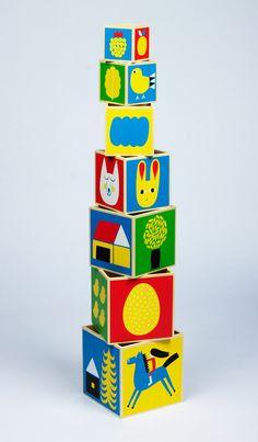 Our other favourite baby toy, Raitti blocks by Marimekko