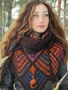 "Шаль ""НОЯБРИНА"" Holiday Crochet Patterns, Crochet Poncho Patterns, Shawl Patterns, Knitted Poncho, Crochet Cardigan, Knitted Shawls, Crochet Shawl, Knitted Blankets, Knit Crochet"