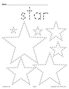 FREE preschool tracing shapes worksheets. Includes a star tracing worksheet plus 11 other shapes tracing worksheets. Great for toddlers too! Get them all here --> http://www.mpmschoolsupplies.com/ideas/7545/12-free-shapes-tracing-worksheets/