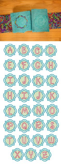 The Quatrefoil Embossed Applique Alphabet is a trendy & classy embossed monogram, perfect for any / all gift projects in your future! Available for instant download at designsbyjuju.com
