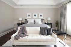 Soft Brown Bedroom Wall Color Choosing Bedroom Furniture for Balancing Sleep Brown Bedroom Walls, Bedroom Wall Colors, Bedroom Themes, Master Bedroom, Grey Walls, Design Bedroom, Bedroom Ideas, White Bedroom, Wall Colours