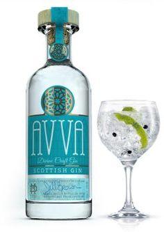 Beautiful bottle design for this wonderful Scottish Gin. Avva means 'respected grandmother.'