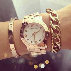 marc jacobs watch .  Very classy look