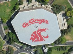 the Beasley Coliseum from the sky!