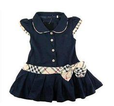Crianças atacado Varejo / Meninas Marca Vestidos Crianças Princess Dress Verão algodão infantil / Vestido Polo Bebê adolescente Frete Grátis 8.80 - 10.98