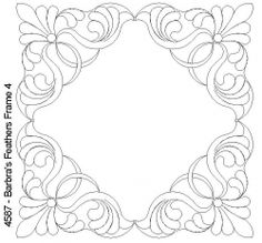 Plumas marco de Barbra 4 Quilting Stencils, Quilting Templates, Longarm Quilting, Free Motion Quilting, Machine Quilting, Quilting Designs, Cutwork Embroidery, Embroidery Patterns, Quilt Patterns