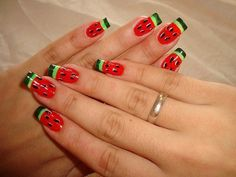 Watermelon Nails - (mulherbeleza)
