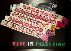 """Embroidery bookmarks  8.5"""" x 1""""  $5  from """"Piece of Peace,"""" check out their facebook page for more embroidery from Palestine!"""