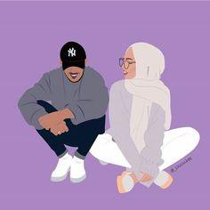 Muslim Couples Girls Women Hijab Drawing Couple Cartoon Girl Love In Islam Anime Cute