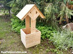 Woodworking Plans How to Build a Wishing Well Planter – HowToSpecialist – How to Build, Step by Step DIY Plans - This step by step woodworking project is about wishing well planter plans. It took me a few months to finally Woodworking For Kids, Teds Woodworking, Woodworking Projects, Woodworking Videos, Woodworking Furniture, Woodworking Workshop, Woodworking Classes, Popular Woodworking, Woodworking Beginner
