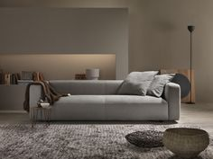Soft and cozy | An informal sofa featuring a generous, sumptuous seat cushion which adapts to the body, for remarkable comfort | more inspiring images at  http://diningandlivingroom.com/