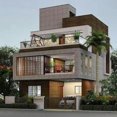 Modern Exterior House Designs, Modern House Design, Exterior Design, Duplex House Design, House Front Design, Architecture Design, Indian Architecture, Facade House, Design Moderne