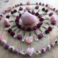crystal pink rose quartz with flowers costia pastel