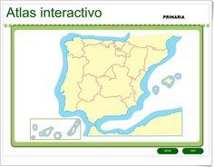 Atlas interactivo de España de Primaria