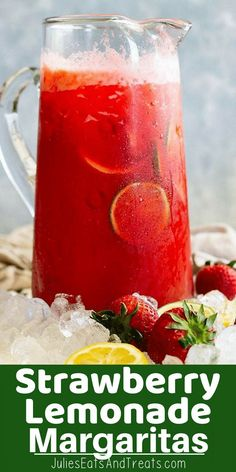 Strawberry Lemonade Margarita is a crowd pleasing drink! Strawberry Lemonade Margarita is an easy and crowd pleasing drink! It's ready in minutes when you use frozen lemonade even frozen strawberries if you desire. Tequila Drinks, Liquor Drinks, Beverages, Bourbon Drinks, Frozen Lemonade, Frozen Drinks, Punch Margarita, Pink Lemonade Margarita, Tequila Punch