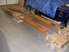 Car Ramps for the garage to work and access your vehicle